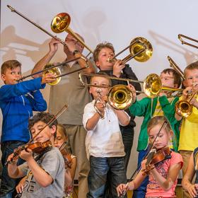 Posaune, Trompete, Geige, Schülervorspiel